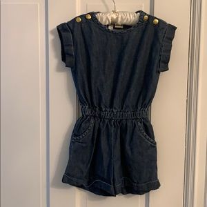 Girls Boutique Denim Romper